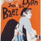 Bob Dylan with Joan  Baez Concert Poster 13x19 inches