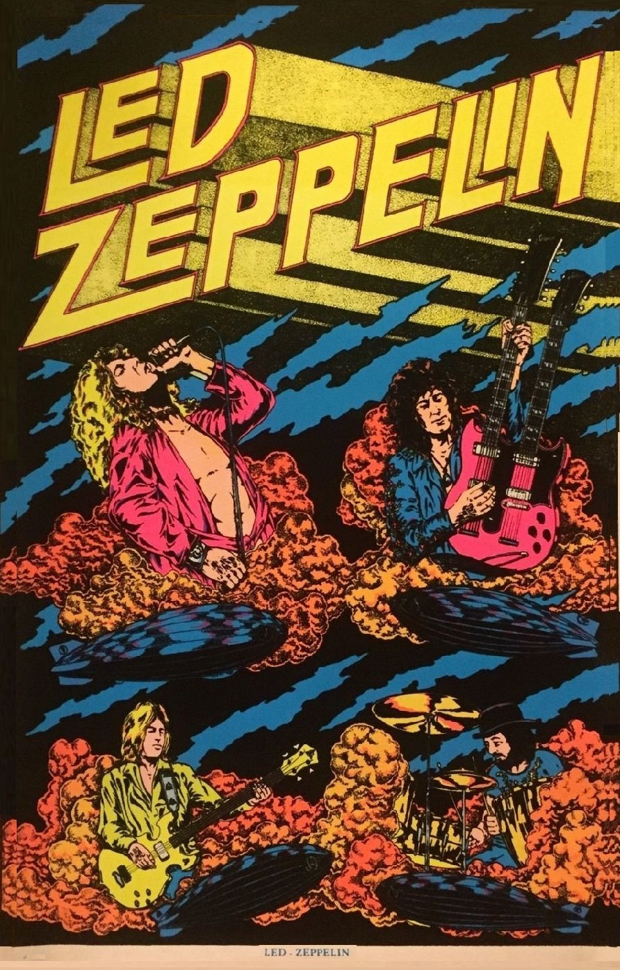 Led Zeppelin Concert Poster  13x19 inches