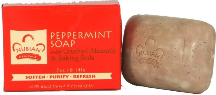 PEPPERMINT SOAP WITH CRUSHED ALMONDS & BAKING SODA