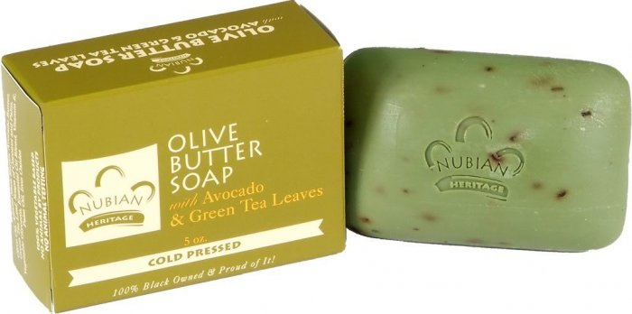 OLIVE BUTTER SOAP W/ AVOCADO & GREEN TEA LEAVES COLD PR