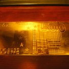 500 EURO GOLD .999  BANKNOTE BILL