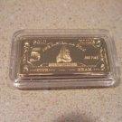 Collectors 24K Gold Clad 100 Mills Five Gram Great White Bullion Bar