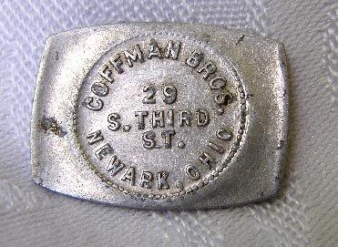 Coffman Bros Newark Ohio Good For 5 Cents Trade Token