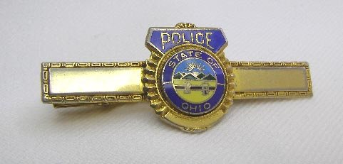 Vintage State of Ohio Great Seal Police Tie Clasp