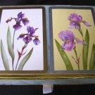 Older Iris Flowers Playing Cards Bridge Set by Congress