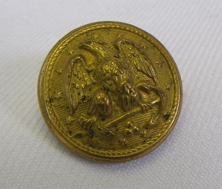 Vintage U.S. Navy Button Made into Sweetheart Pin