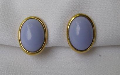 Vintage Trifari Lavender Purple Thermoset Earrings