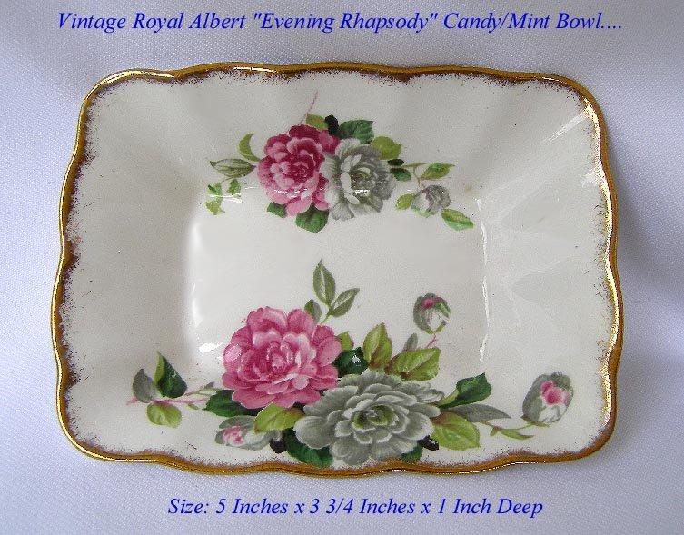 ROYAL ALBERT EVENING RHAPSODY CANDY MINT DISH BOWL ROSE