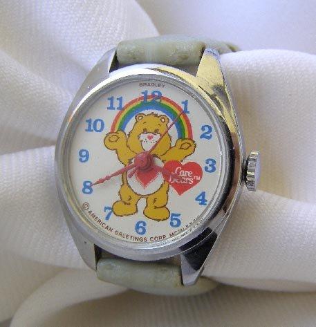 Vintage 1983 Care Bear Wrist Watch Works!!