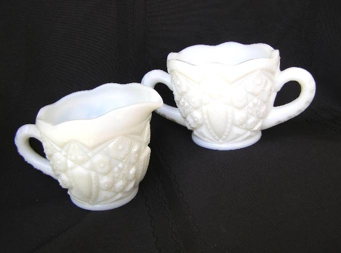 McKee Milk Glass  Cream & Sugar EAPG Jubilee?
