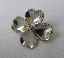 Vintage Lang Sterling Silver Dogwood Flower Brooch