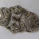 Marcasite Like Rhinestone Victorian Style Brooch
