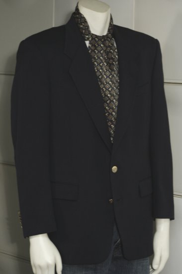 DIOR Jacket  Sport Coat Vtg late '70s NAVY Light Wool 40 Mint