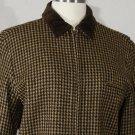Ralph Lauren pure wool brown guncheck jacket 10 new