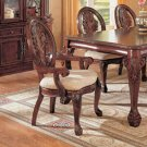 Timeless Cherry Glass  Arm Chairs Set of Two