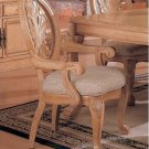 Timeless Antique White Arm Chair Set of Two