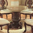 Rich Cherry Glass Top Dining Table