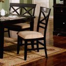 Essex Cross Back Design Collection Side Chair -Set of Two
