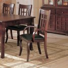 Essex Cherry Finish Collection Arm Chair - Set of Two