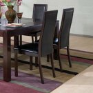 Essex Cappuccino Collection Dining Chairs - Set of Two