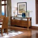 Essex Harland Glass Walnut  Finish Collection - Buffet