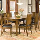 Essex Walnut Finish Collection Dining Table