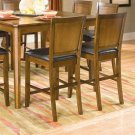 "Essex Walnut Finish Counter Height Collection 24""H Barstool - Set of Two"