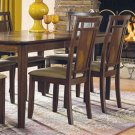 Essex Walnut Finish Collection Side Chairs -Set of Two