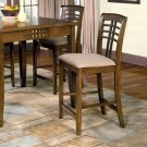 Essex Walnut Finish Counter Height Collection Chair - Set of Two