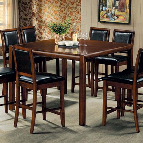 Essex Walnut Finish Counter Height Collection Dining Table