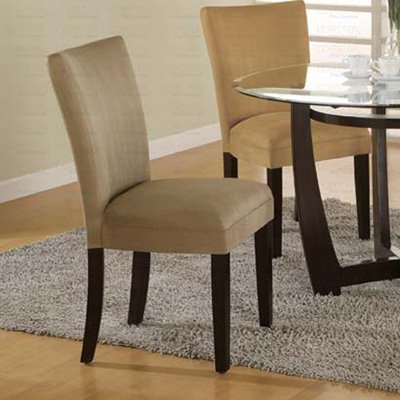 Essex Cappuccino Round Glass Collection Taupe Parson Chair