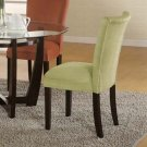 Essex Cappuccino Round Glass Collection Green Parson Chair