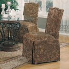 Metal and Glass Collection Parson Chair -Set of Two -190072