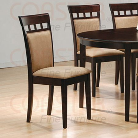Essex Rich Cappuccino Collection UPL Back Chair - Set of Two