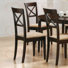 Essex Rich Cappuccino Collection Cross Back Chair - Set of Two