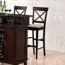 """Rich Cappuccino Collection 30"""" Cross Back Barstool - 100230"""