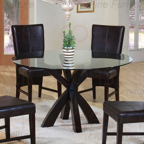 CROSS BAR  Dermont Glass Collection Table  CAPPUCCINO