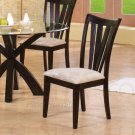 Glass Collection CUSHION,CAPPUCCINO Side Chair -Set of Two