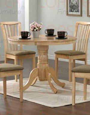 Cappuccino Pedestal Round Table