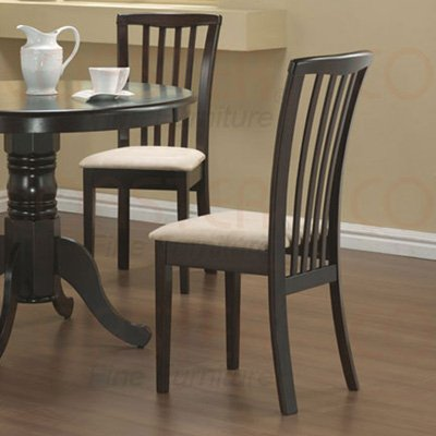Maple Round Collection Side Pub Chair - Set of Two