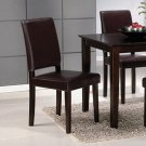 Cappuccino Finish Collection Cappuccino Chair - Set of Two