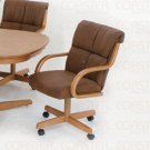 Casual Oval Collection Brown Chair - Set of Two - G9513