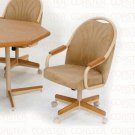 Oak Finish Collection Tan Chair - Set of Two - G7776