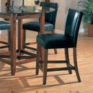 """Cherry Finish Marble Top Counter Height Collection 24"""" Barstool - Set of Two"""
