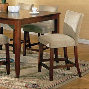 Cherry Finish Marble Top Counter Height  Barstool - Set of Two -100359