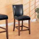 "Soho Black Collection 24"" Barstool - Set of Two - 100387"
