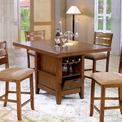 Mission Oak Counter Height Dinette Collection Kitchen Island - 101018