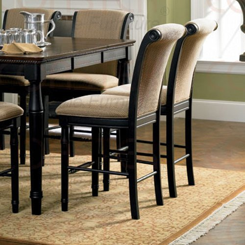 """Rich Cappuccino Counter Height Collection 24""""H Barstool - Set of Two - 101829"""