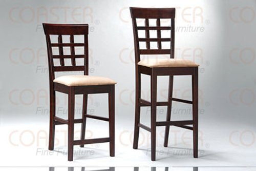 Rich Cappuccino Oval Counter Height Collection UPL Back Barstool - Set of Two -100209
