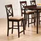 """Rich Cappuccino Oval Counter Height Collection 24"""" Cross Back Barstool - Set of Two -100229"""